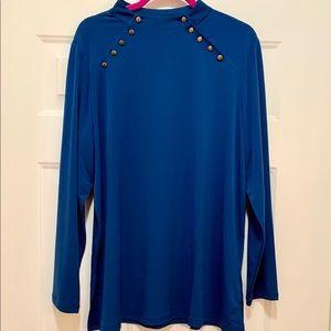 Susan Graver | Faux Mandarin Collar Tunic